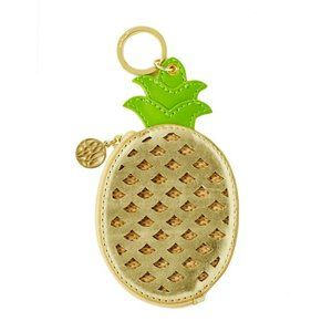 LILLY PULITZER Pineapple Coin Purse Keychain